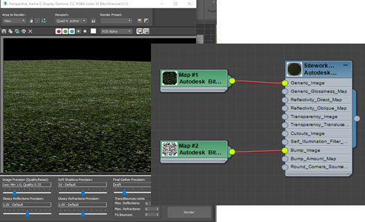 3DS Max Grass Material