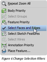 Autodesk Inventor Change Selection Filters