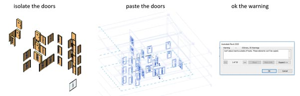 Copy Multiple Doors from One Revit Project to Another