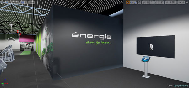 Energie Fitness VR video wall