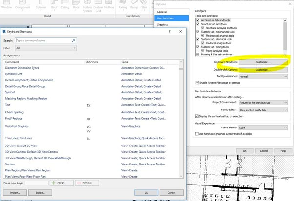 Keyboard Shortcuts in Autodesk Revit