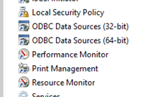 ODBC Data Sources Image