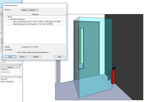 Revit Doors for Clash Detection Interference Report Image