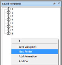Right Click in Saved Viewpoints New Folder