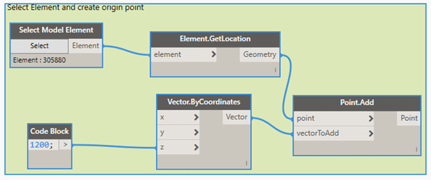 Select Element and Create Origin Point