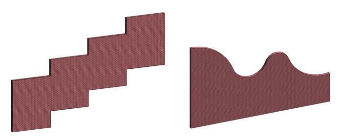 Wall Boundary Shape Examples