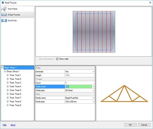 revit 2018 adding trusses extensions dislog