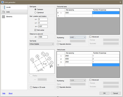 grid layout revit structure grid generator axis