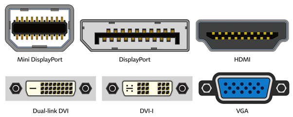 Computer display connectors