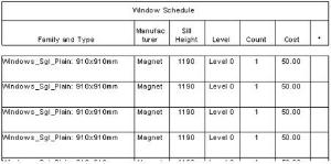 revit schedule column widths 6