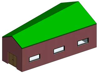 roof irregular building revit model