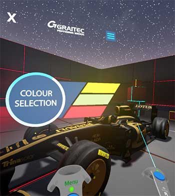 virtual reaility f1 model lotus graitec